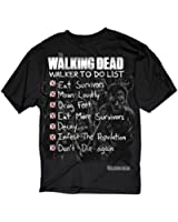 The Walking Dead Walker To Do List Adult Black T-shirt