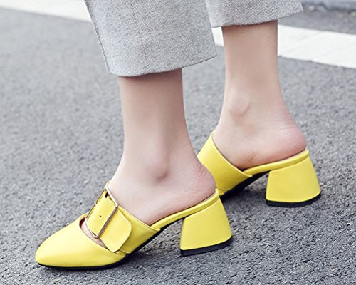 Mules HiTime HiTime Mules HiTime Jaune Femme Jaune Jaune Femme Femme Mules HiTime fnCq4d
