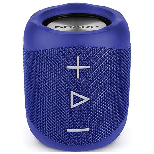 chollos oferta descuentos barato Sharp GX BT180 BL Altavoz Bluetooth portátil 14 W estéreo bajos profundos hasta 10 horas recargable impermeable IP56 micrófono para llamadas con Voice Assistant azul