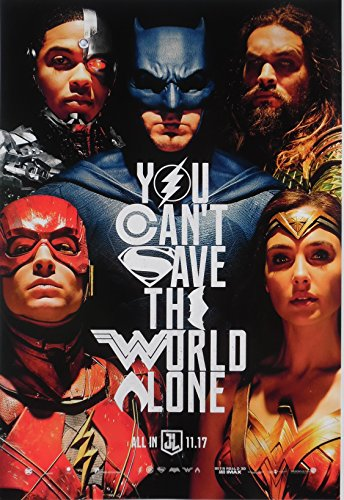 "Dc Comics Justice League 2017 Movie Poster 11 1/2"" X 17"""