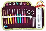 Martha Pratt Crochet Hooks Soft Handle Kit (31 Items)