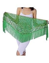 Womens Belly Dance Scarf Hip Skirt ,Qlan Vogue Style Skirt Triangle Tassel Wrap Costume