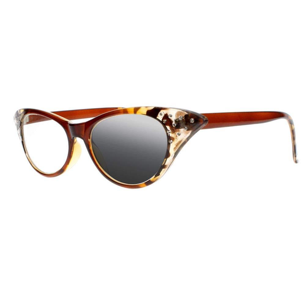 Amazon.com: Gafas de sol UV400 para mujer, con ojo de gato ...