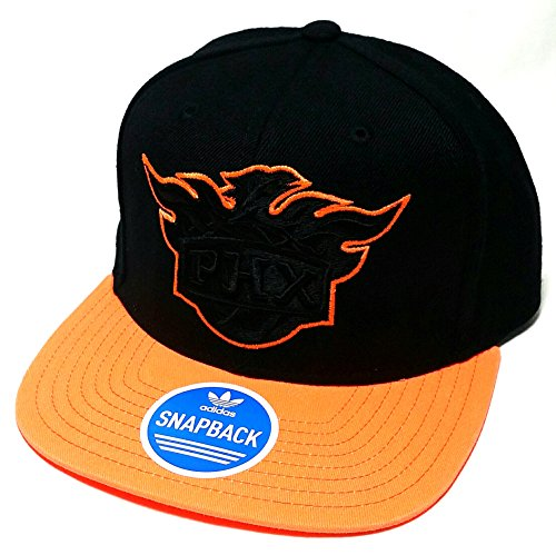 Phoenix Suns Adidas PHX NBA Neon New Vibe Black Orange Snapback Era Hat - Suns Phx Hat