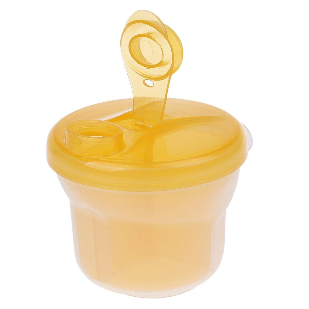 Random Baby Milk Container Milk Powder Formula Dispenser Portable Travel Container Bottle Storage with 3 Compartment