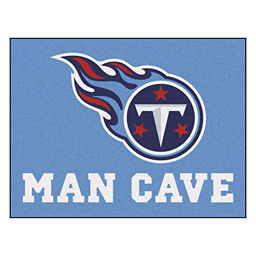 Fanmats 14380 NFL Tennessee Titans Nylon Universal Man Cave All-Star Mat