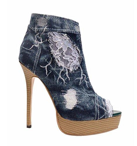 Eau Holes À Dentelle Taiwan Sandales Sandales Sport GONGFF Bouche Cowboy De Femmes 1 Poisson Chaussures De La De Jeans Chaussures Haute D'été De Main aFwwA8qC