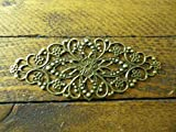 Celtic Woods 6 X Antique Filigree Centres 80X35Mm Jewelery Wooden Box Embellishment Aged D016