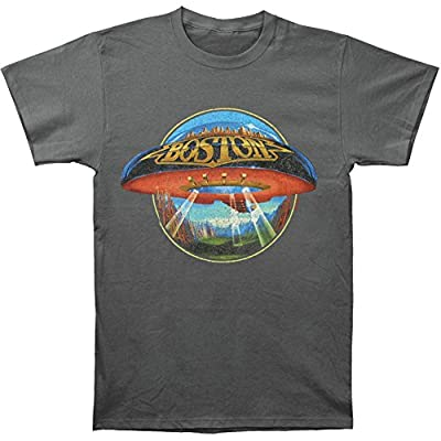 Boston Spaceship Distressed Charcoal Grey T-Shirt