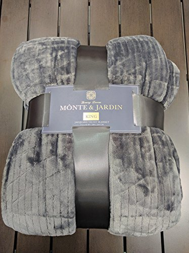 monte-jardin-queen-gray-jacquard-velvet-blanket-98-by-92-inches-super-size