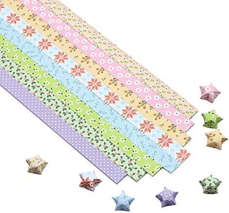 1300枚のカラフルな折り紙の星紙DIYのラッキースター紙片 #05