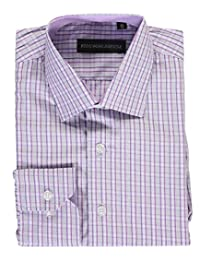 "Kids World Big Boys' ""Tonal Windowpane"" Dress Shirt"