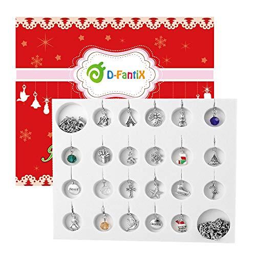 [해외]D-FantiX 크리스마스 카운트다운 달력 2018 여성 소녀 주얼리 어드밴트 달력 DIY 팔찌 목걸이 22 참 컬렉션 세트 / D-FantiX Christmas Countdown Calendar Women Girls Jewelry Advent Calendar 2019 DIY 22 Charms Bracelet Necklace Set
