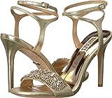 Badgley Mischka Women's Hailey Heeled Sandal, Platino, 6.5 M US