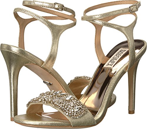 Badgley Mischka Kvinna Hailey Heeled Sandal Platino Metallisk Mocka