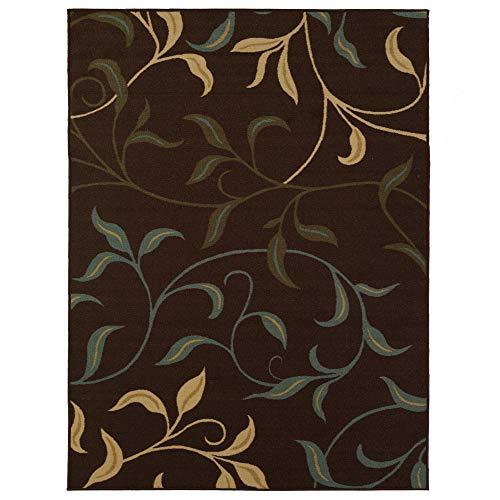 Ottomanson Leaves Design Area Rug