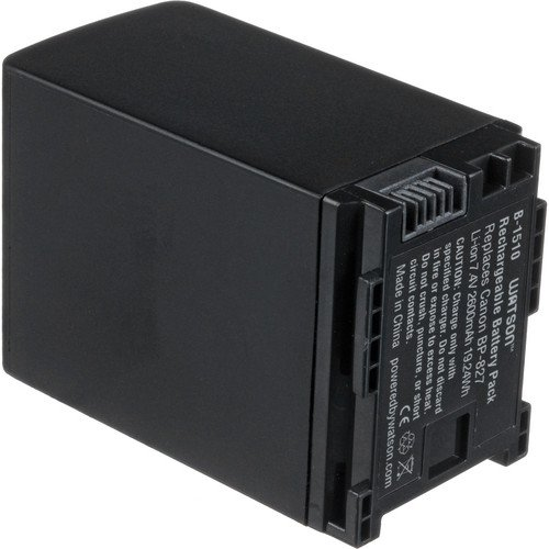 Watson BP-827 Lithium-Ion Battery Pack (7.4V, 2600mAh) -Replacement for Canon BP-827 Battery Canon HF-10 , HF-100 , HF-11 , HF-20 , HF-200 , HF-21 , HF-G10 , HF-G20 , HF-M30 , HF-M300 , HF-M306 , HF-M31 , HF-M32 , HF-M36 , HF-M40 , HF-M400 , HF-M406 , HF-M41 , HF-M46 , HF-S10 , HF-S100 , HF-S11 , HF-S20 , HF-S200 , HF-S21 , HF-S30 , HG-20 , HG-21 , Legria HF-M306 , XA10 , XA10 HD