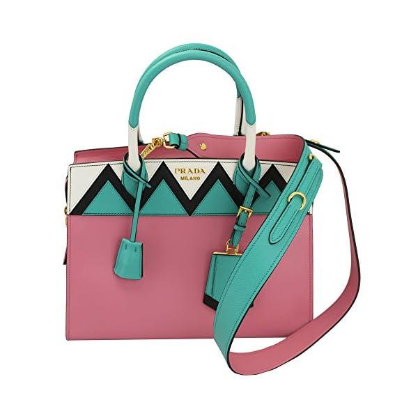 aeffb088719c Prada Pink Leather Tote Bag With Shoulder Strap 1ba046 Begonia+ ...