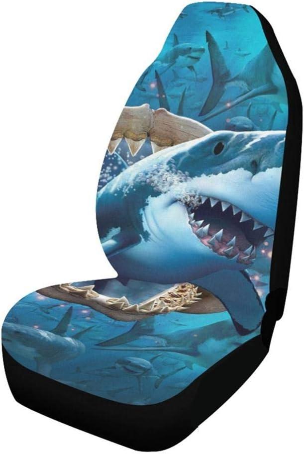Modische Dinosaur Shark Cat L/öwenkopf Gedruckt Autositzbezug Innovativer Stoff Und Design 1 STK Four Seasons Universal Autositzbezug Mississ Animal Autositzbezug