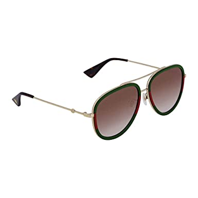 ad54bca9a6b Image Unavailable. Image not available for. Color  Gucci GG0062S 008 Gold  GG0062S Pilot Sunglasses ...