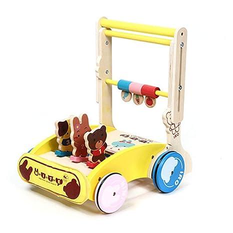 Caminante para bebés, carrito de paseo multifuncional de madera ...