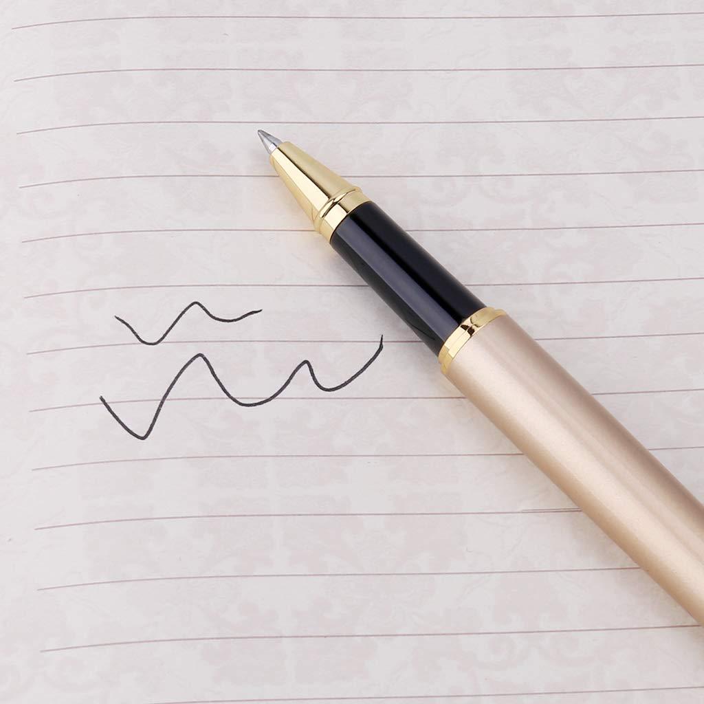 penna a gel regalo di Natale per la scrittura nero roller penna a sfera penna multifunzione -nero Baiyao Elegante Penna a sfera vintage di lusso regalo aziendale