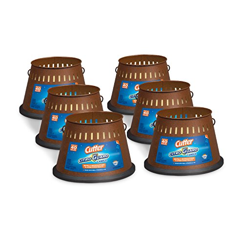 Citronella Bucket - Cutter Citro Guard Candle, Triple Wick, 20-Ounce, 6-Pack