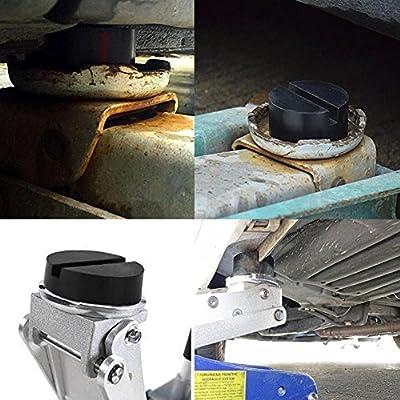 AmerStar 2 Pcs Elasticity DIY Car SUV Slotted Frame Rail Hydraulic Floor Jack Disk Rubber Pad