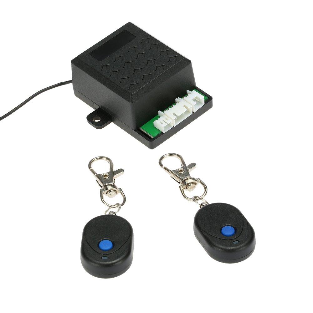 KKmoon Universal Auto Wegfahrsperre Anti-Security System Alarm Diebstahlschutz mit 2 Fernbedienung