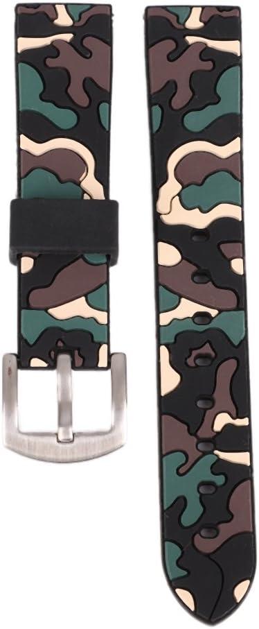 Bornbayb Souple en Caoutchouc de Silicone Bracelet de Montre à libération Rapide Bande de Montre de Remplacement pour Hommes Femmes (18mm, 20mm, 22mm, 24mm) A2
