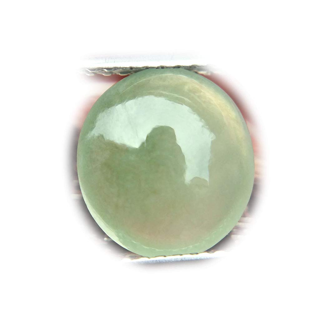 Lovemom 3.09ct Natural Cabochon Unheated Green A-Jade Myanmar #PU