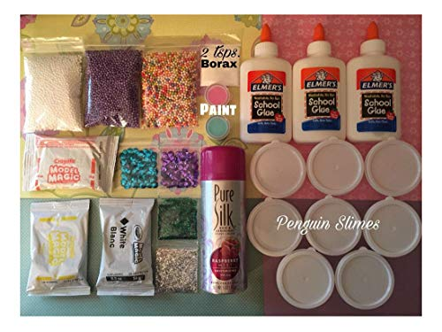 Price comparison product image DIY Slime KIT Slime Supplies Make Your own Fluffy, Butter, Glitter Slimes!!!