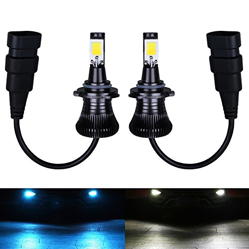 Fog Light 9006 9005 HB4 HB3 LED Bulbs White 6000K Ice Blue 8000K Dual Color for Trucks Cars Lamps DRL Daytime Lights Kit Replacement Bulb 12V 30W 2800LM Super Bright COB Chips 1 Year Warranty【1797