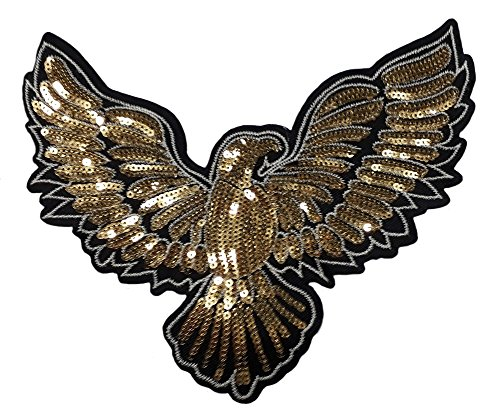 Eagle sequins patch sew on for clothing shirt dress sequin patch (Eagle)