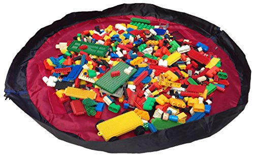 Why Choose Children Play Mat and a Toy Storage Bag from Bow-Tiger - Multi Purpose Kid's Activity Mat...