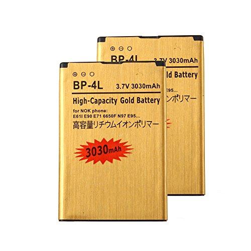 2 pcs Gold Extended Nokia E71 E72 E90 N97 High Capacity B...