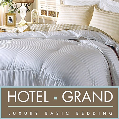 "Hotel Grand White Goose Down Comforter 500 Thread Count 650 Fill Power (Queen (90""x98""))"