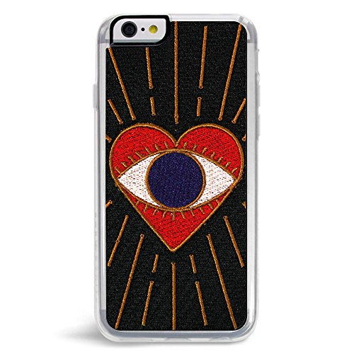 Embroidered Case Phone (Zero Gravity Case Compatible with iPhone 6/6s - Visions - Embroidered Eye Heart Design - 360° Protection, Drop Test Approved)