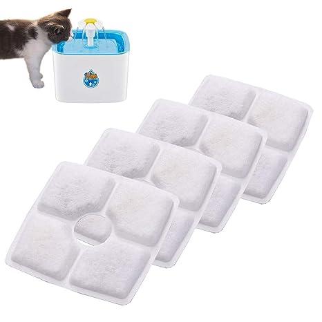 FORNORM Juego de 4 Fuente de Agua Filtro, Filtro de Repuesto Filtros para Fuentes de Agua para Gatos Perros