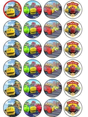 24 Chuggington Cupcake Toppers Amazoncouk Kitchen Home