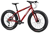Mongoose Argus Sport Fat Tire Bicycle 26″ Wheel, Red, 17 inch / Medium