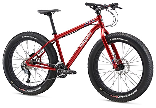 Mongoose Argus Sport Fat Tire Bicycle 26' Wheel, Red, 19 inch / Large