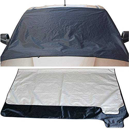 (Yaida Car Snow Ice Protector Visor Sun Shade Fornt Rear Windshield Cover Block Shields 3 Size (83(98X127cm)))