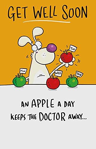 Amazon.com: Get Well tarjeta Apple un día mantiene el Doctor ...