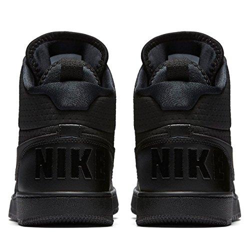... Nike Herren Court Borough Mid Leder/Textil Sneakerboots Schwarz (Black/ Black)