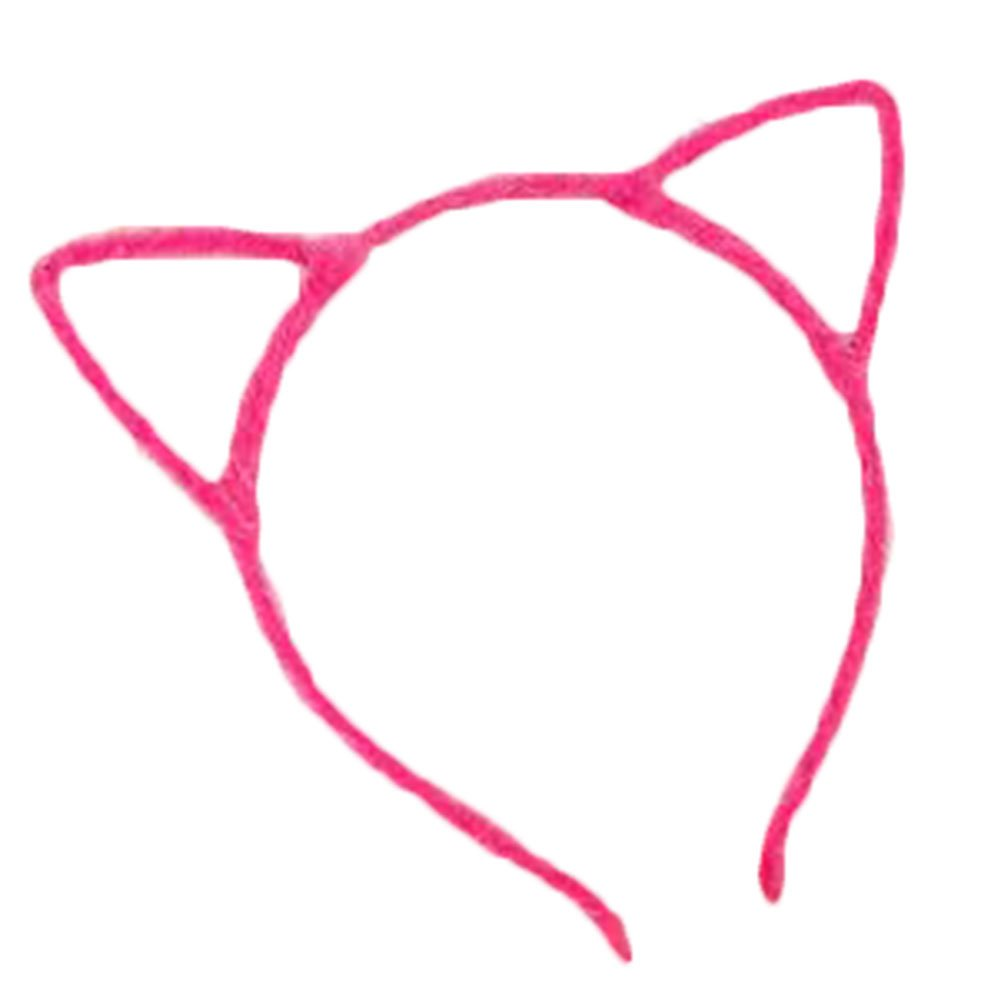 Kanggest 1 Piezas Diademas de Orejas de Gato Christmas Halloween Pelo de la Venda Horquillas Pinzas Pelo Para Fiesta Accesorio el Pelo(Azul)