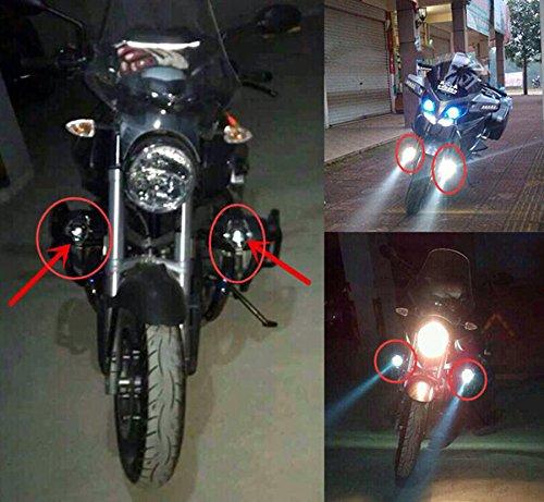 GOODKSSOP 2pcs Super Bright 3000LM CREE U5 125W LED Motorcycle Universal Headlight Work Light Driving Fog Spot Lamp Night Safety Headlamp + 1pcs Switch (Black) by GOODKSSOP (Image #8)