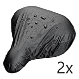 ECENCE 2x bicycle saddle rain cover waterproof bicycle sa saddle rain cover waterproof bicycle saddle cover Black 11030303