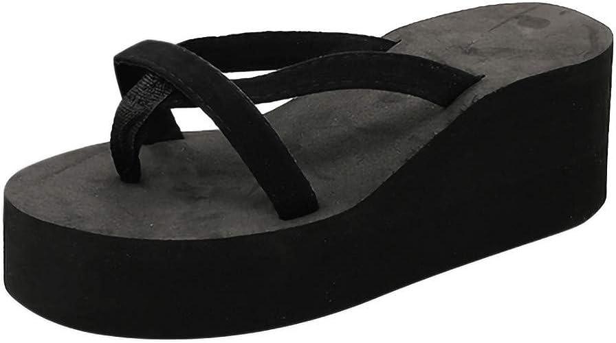 Summer Women Casual Sports Beach Slide Slippers Flip Flops Sandals Thick Heel