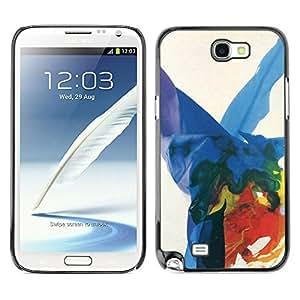 For SAMSUNG Galaxy Note 2 II / N7100 Case , Art Colorful Splashes - Diseño Patrón Teléfono Caso Cubierta Case Bumper Duro Protección Case Cover Funda